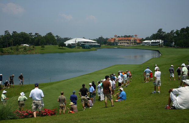 Hole No. 18 during The Players Championship at TPC Sawgrass.
