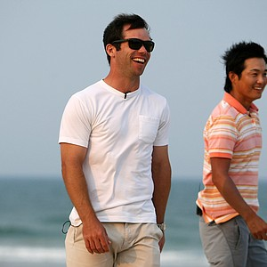 PGA Tour Players Paul Casey and Ryuji Imada took in a game of Bocce ball on the beach at The Lodge and Club at Ponte Vedra Beach. For more exclusive videos from the PGA Tour, including Casey, Imada and Van Pelt, check out tourplayers.com, an exclusive partner of Golfweek.