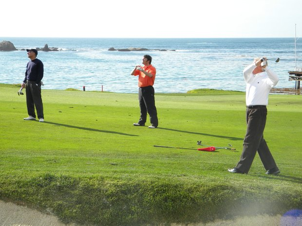 Pro-Am players at Pebble Beach.