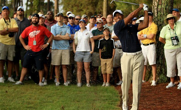 Tiger Woods during Round 1 of the Players.