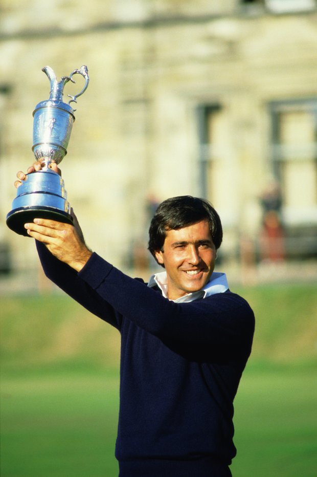 Seve Ballesteros after winning the 1984 Open Championship.