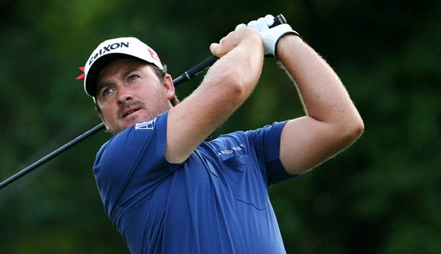 Graeme McDowell tees off at No. 5 at the TPC Sawgrass Players Stadium Course.