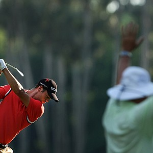 Martin Kaymer tees off at the sixth hole at TPC Sawgrass during Round 3 of The Players Championship.