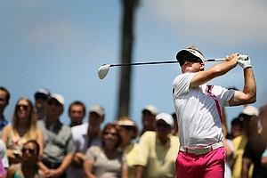 Brian Gay hits his tee shot at No. 4 during the final round of The Players Championship.