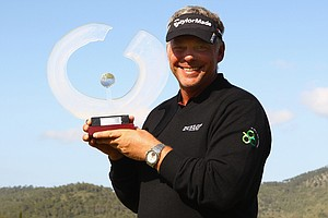 Darren Clarke after winning the Iberdrola Open.