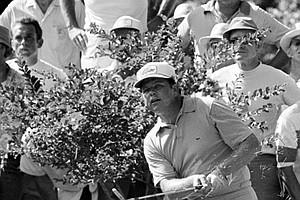 Carving his way to victory -- Orville Moody, former army sergeant from Killeen, Tex., had his share of trouble during the final round of the U.S. Open Championship in Houston, Tex., Sunday, June 16, 1969. Here he hits from the rough on the 12th hole during his charge to victory. Moody captured the event with a 281, one-over-par for the 72 hole 69th championship.
