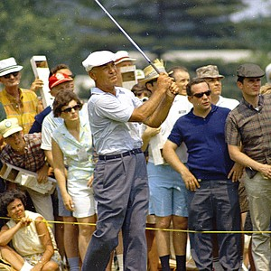 Golfer Ben Hogan is seen at the U.S. Open at Baltusrol Golf Club, Springfield, N.J., June 1967.