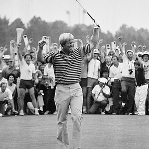 Jack Nicklaus lets out his joy after he birdied the 18th hole during Sunday, June 16, 1980 final round of the U.S. Open Golf championships on the Baltusrol County Club course in Springfield. The king of goal has won his fourth U.S. Open title and already is looking forward to going after his fifth.