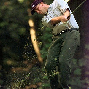 Tom Lehman, of Scottsdale, Ariz., hits from the twelfth fairway during the final round of the U.S. Open Sunday, June 15, 1997, at the Congressional Country Club in Bethesda, Md.