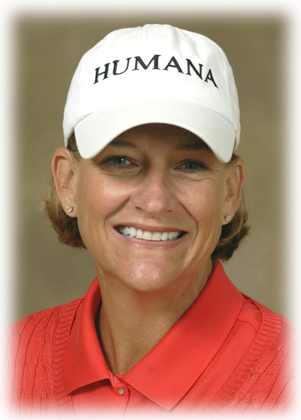 Former Solheim Cup player for the USA, Nancy Scranton. Photo credit: Richard Sharp/Legends Tour