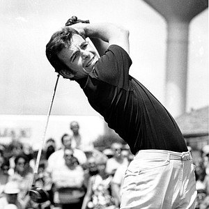 Tony Jacklin grits his teeth as he follows through on a drive during play in the fourth and final round of the U.S. Open Championship at Hazeltine National Golf Club in Chaska, Mn. on Sunday, June 21, 1970. Jacklin, the British Open champion from London, England, went on to win the U.S. Open with a score of 281, beating Dave Hill.