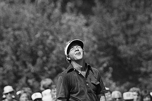 Arnold Palmer registered this moment of torture when he missed a putt on the 11th hole during the first round of the U.S. Open at Medinah Country Club, June 20, 1975. Arnie hunched his shoulders, dropped his putter and raised his face to the sky. He finished in two-under-par 69, two strokes behind the leaders. (