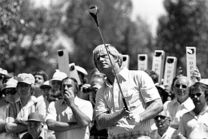 Jack Nicklaus is shown in action in the U.S. Open Golf Championship at Cherry Hills Country Club, Denver, Colo., June 1978. The tournament took place June 15-18.