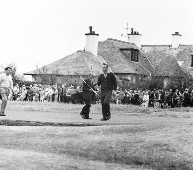 Arnold Palmer missed this putt on the 16th Green in the British Open at Troon, Scotland, July 12, 1962.