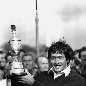 Severiano Ballesteros, of Spain, holds the 1979 British Open trophy cup after winning with 283 at Royal Lytham and St. Anne's in Lancashire, England, on July 21, 1979.