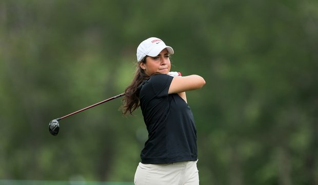 Marta Silva Zamora of Georgia during Round 1 of the Traditions Golf Club for the Women's Division I Golf Championships.