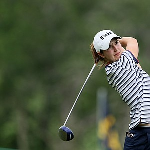 Lindy Duncan of Duke during Round 1 of the Traditions Golf Club for the Women's Division I Golf Championships.