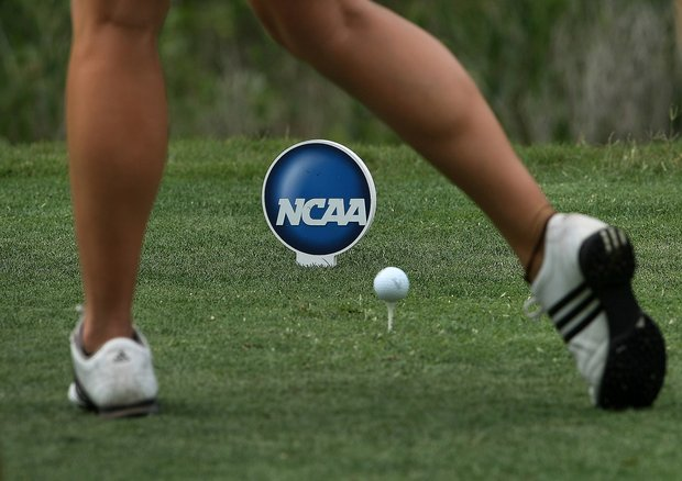 Round 1 of the Traditions Golf Club for the Women's Division I Golf Championships.
