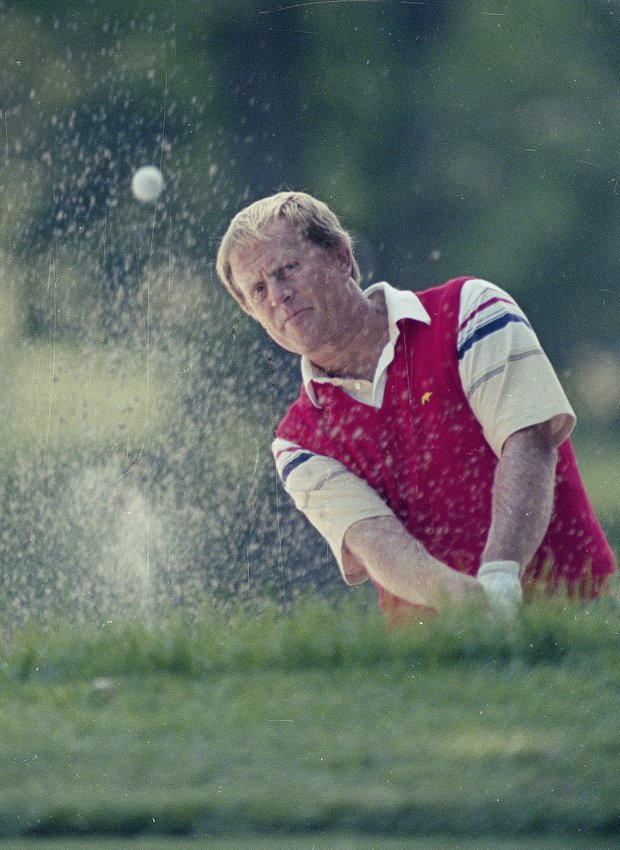 Jack Nicklaus is seen during U.S. Open action at the Oak Hill Country Club in Rochester, N.Y., June 1989.