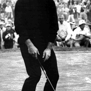 South Africa's Gary Player throws his head in the air after putting on the eighteenth hole, where he won the PGA Championship, at Oakland Hill, in Birmingham, Mich., Aug. 6, 1972.