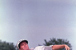 Jeff Sluman of Rochester, N.Y., throws the golf ball to the crowd after sinking a par putt on the 18th green to win the PGA golf championship at Oak Tree Club in Edmond, Okla., Sunday, Aug. 14, 1988. Sluman shot a six-under-par 65 to defeat Paul Azinger by three strokes.
