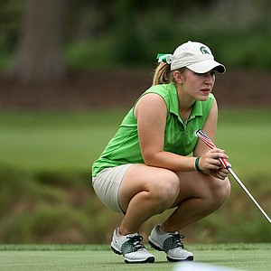 Caroline Powers of Michigan State during Round 1. Powers is playing as an individual.