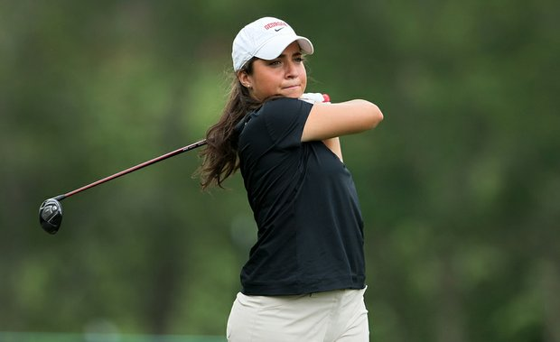 Georgia's Marta Silva Zamora during the opening round of the NCAA Women's Championship.