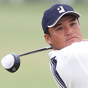 Shigeki Maruyama of Japan drives from the 2nd tee on the final day of the British Open Golf championship on the Old Course at St. Andrews, Scotland Sunday, July 23, 2000.