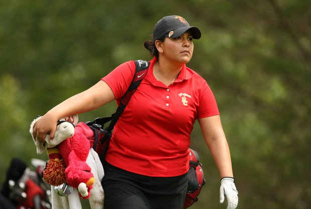 USC's Lizette Salas during Round 2 of the Women's Division I Golf Championships.