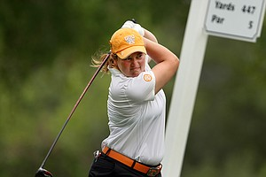 University of Tennessee's Erica Popson during Round 2 of the Women's Division I Golf Championships.
