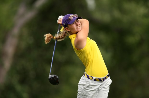 Megan McChrystal of LSU during Round 2 of the Women's Division I Golf Championships.
