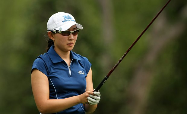 UCLA's Glory Yang during Round 2 of the Women's Division I Golf Championships.