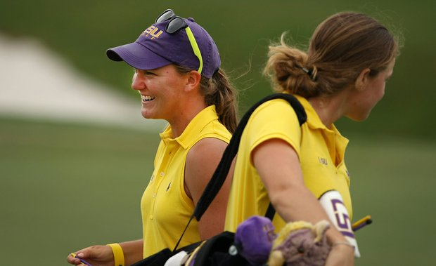 LSU's Austin Ernst shot a 66 during Round 2 of the Women's Division I Golf Championships.