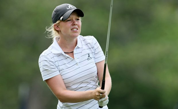 Stephanie Meadow of Alabama during Round 1 of the Women's Division I Golf Championships.