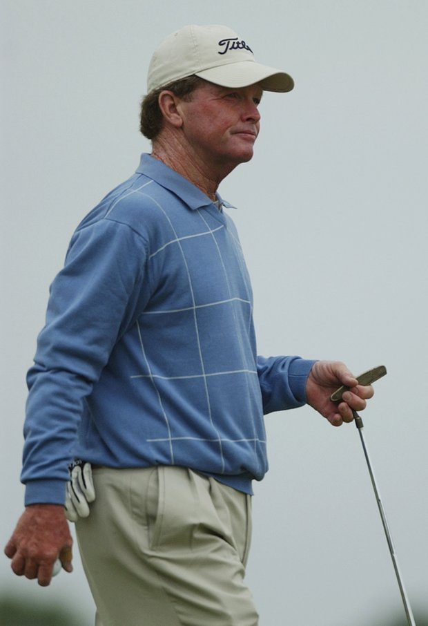 Tom Kite walks on one during a practice round at Shinnecock Hills Golf Club Monday, June 14, 2004 in Southampton, New York. Kite, a former US Open champion, is playing in his 31st consecutive U.S. Open. The US Open starts Thursday, June 17, 2004 at the club.