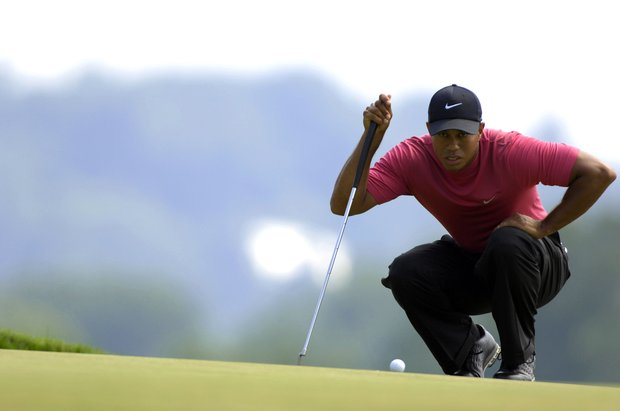 Tiger Woods during the 2007 U.S. Open at Oakmont Country Club on June 17, 2007 in Oakmont, Pennsylvannia.
