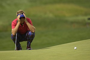 Ian Poulter during the 2007 U.S. Open at Oakmont Country Club on June 14, 2007 in Oakmont, Pennsylvania.