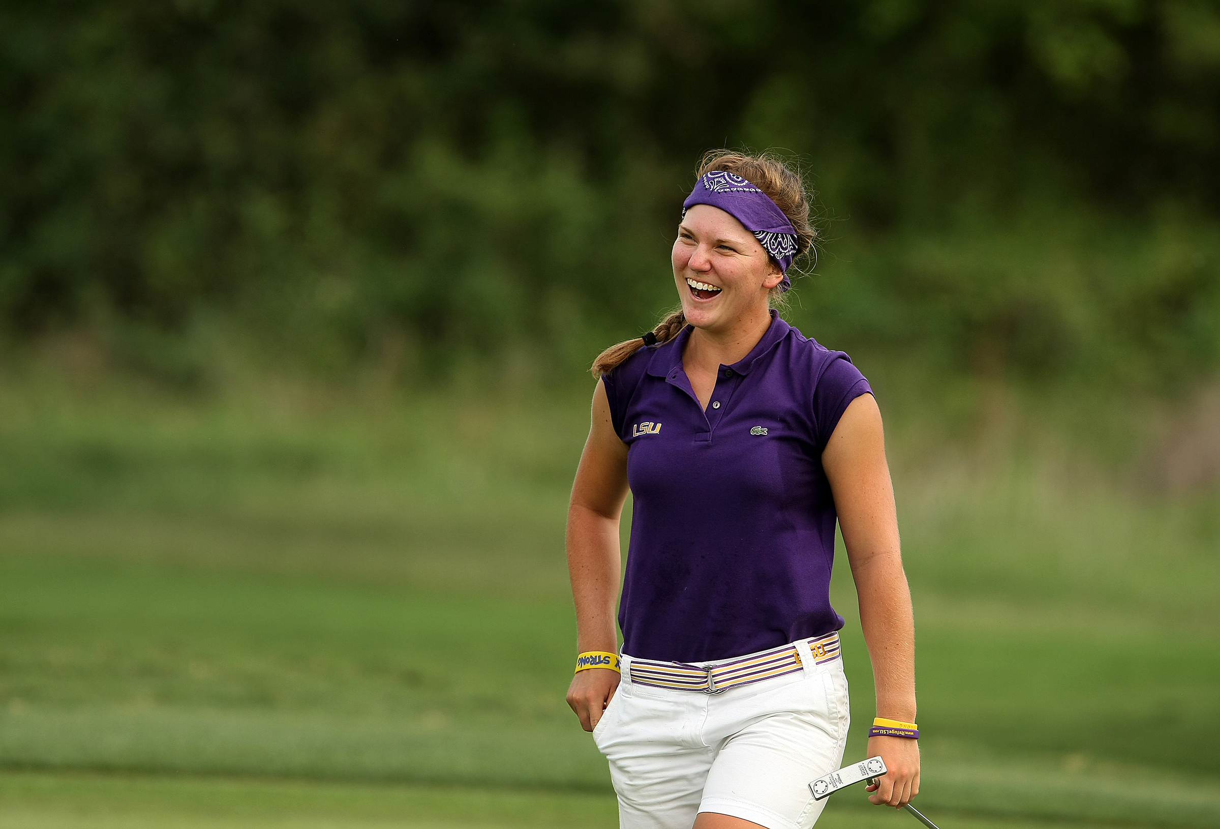 LSU's Austin Ernst is the 2011 Division 1 NCAA Women's Individual Champion at Traditions Golf Club in Bryan, TX.