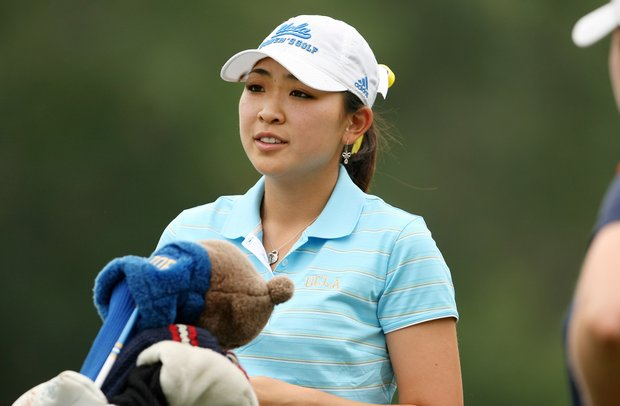 Tiffany Lua of UCLA during the final round of the Traditions Golf Club for the Women's Division I Golf Championships.