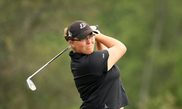 Laura Gonzalez of Purdue during the final round.