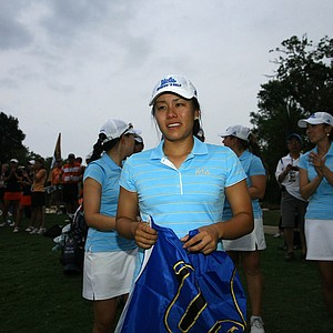 UCLA's Stephanie Kono sheds a few tears after the UCLA Bruins won the 2011 Womens' Division 1 National Championship.