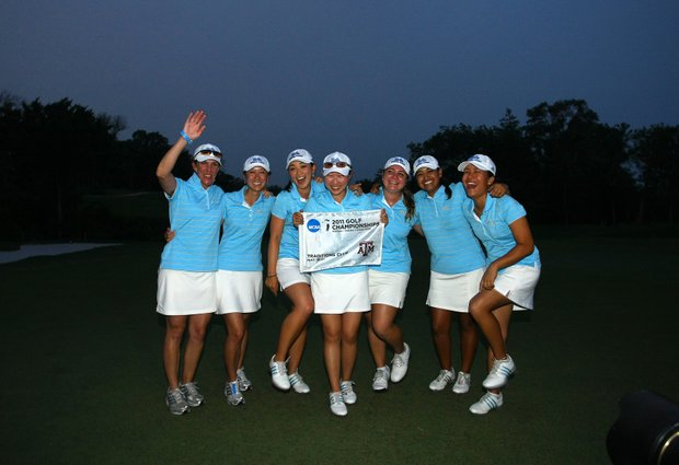 The UCLA Bruins celebrate winning the 2011 Women's NCAA Division I Championship.