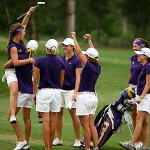 Louisiana State University's Austin Ernst won the individual NCAA Division 1 at the Women's National Championship in Bryan, TX.