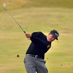 Phil Mickelson of the United States plays from the 6th fairway on the final day of the British Open golf championship at Royal Troon golf course in Troon, Scotland Sunday July 18, 2004.