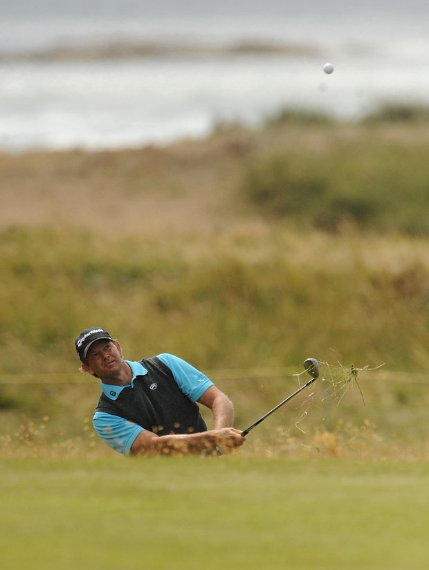 South Africa's Retief Goosen in action during the fourth round round of the British Open Golf Championship at Turnberry Golf Club, Turnberry, Scotland Sunday July 19, 2009.