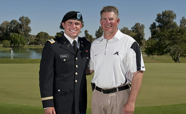 Matt Krembel and Army coach Brian Watts