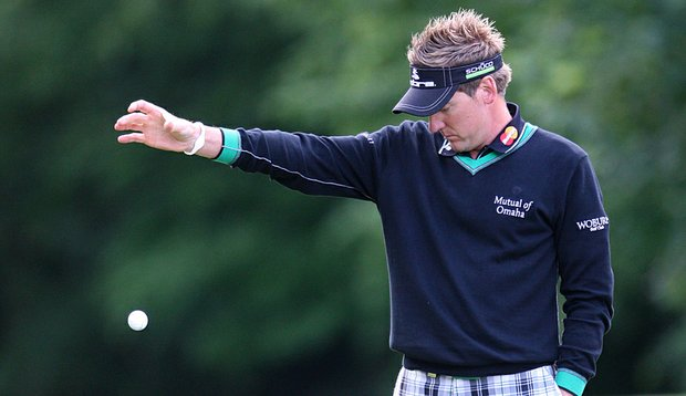Ian Poulter during Round 1 of the BMW PGA Championship at Wentworth.