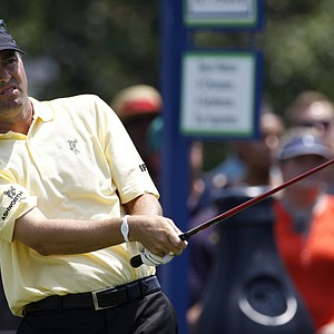 Ryan Palmer held a share of the lead with Sergio Garcia after the second round of the Byron Nelson Championship.