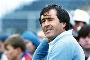 Nov. 22, 1987 - Severiano Ballesteros waits to tee off during play in the third round of the Open Golf Championship, at Muirfield, Scotland, on July 18, 1987.