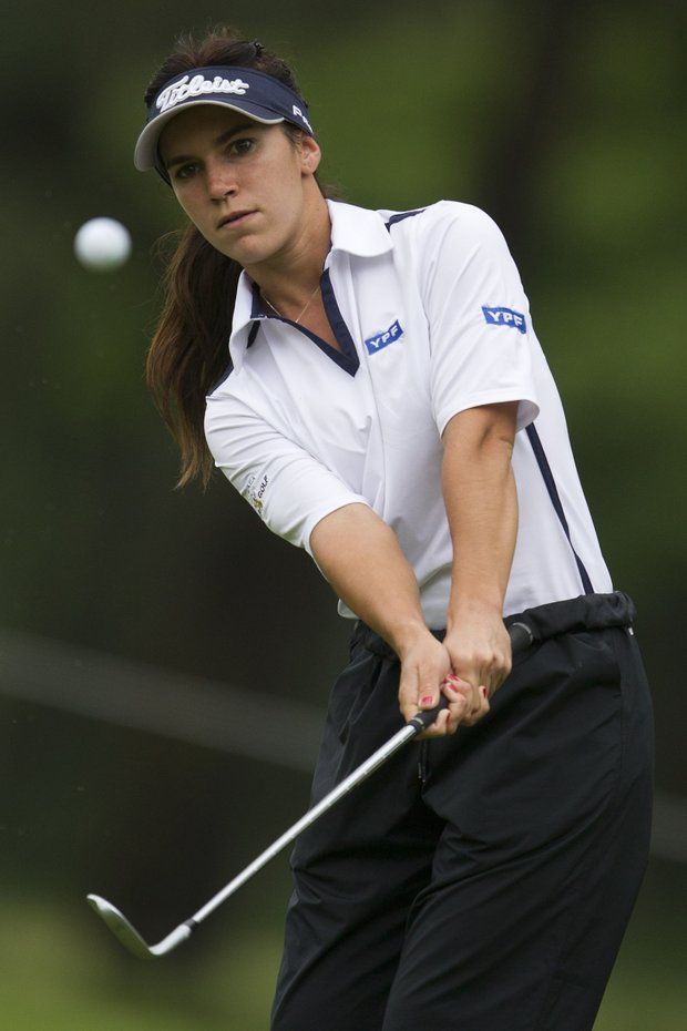 Sofi Toccafondi of Argentina competes during the first round of the HSBC LPGA Brazil Cup in Rio de Janeiro, Brazil, Saturday May 28, 2011.